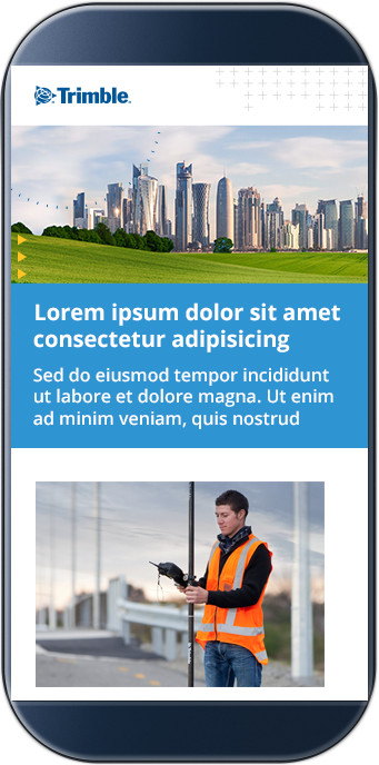 Trimble Email Template for Mobile