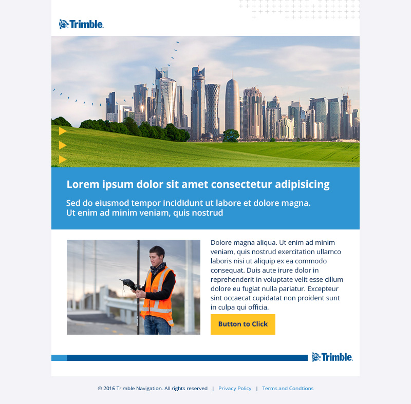 Trimble Email Template for Desktop